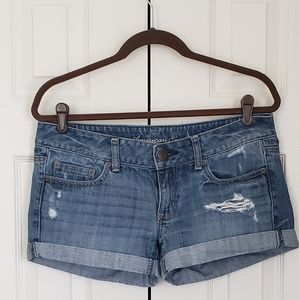 American eagle destroyed jean shorts